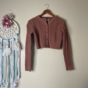 Urban Outfitters Cropped Button Down Cardigan S